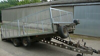 Ifor Williams Tilt Bed Winch Car Transporter Plant Mesh Sides Twin Axle