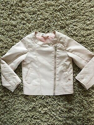 H&M Pink Faux Leather Girls Biker Jacket 5-6 Years