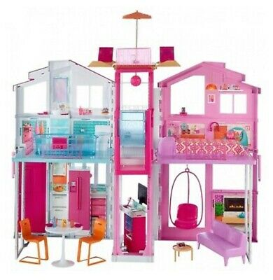 Barbie Pink Passport 3 Story Townhouse Mattel DLY32-9665