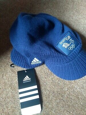 Team GB Official Olympic Hat. Adidas, navy blue, Vancouver 2010!! OSFA