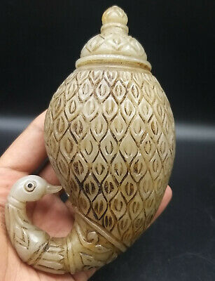 Collocter Pice Very Antique Old Late Mughail Period Wihte Jade Perfume Bottle
