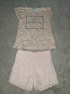 mayoral girls outfit shorts and top age 5-6 years.  girls designer clothing