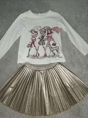 mayoral girls outfit.  skirt and top age 5-6 years. girls designer clothing