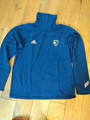 Official team GB Olympic polo neck jumper. Vancouver 2010. Navy blue size 44-46