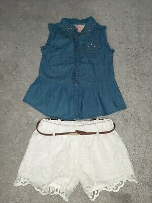 Mayoral girls outfit. shorts and top age 6 years. girls designer clothing