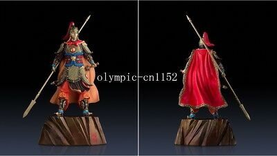 25'' superfine brass colored drawing carvings Three Kingdoms Warrior Zhao Yun