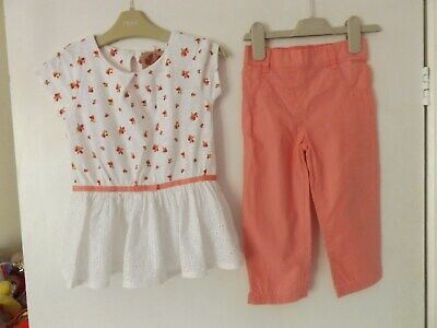 Next pretty summer outfit / set top and 3/4 trousers aged 4-5 Years