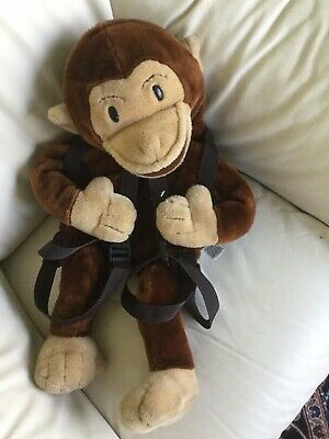 Adorable vintage Curious George Puppet Backpack