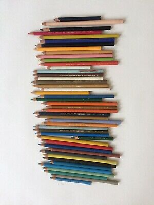 Lot Of Vtg 46 Derwent Cumberland Coloured Pencils