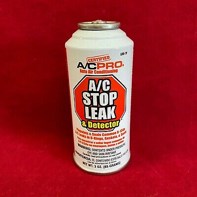 A/CPro A/C Auto Air Conditioning Stop Leak & Detector 3oz Charge LDS-1V R134a