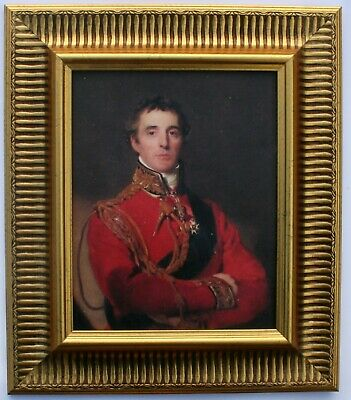 Duke Of Wellington Framed Oleograph R510B#E Reproduction Picture , Art .