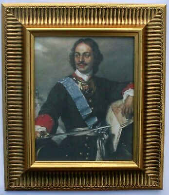 Peter the Great of Russia Framed Oleograph R518#G - Reproduction Picture