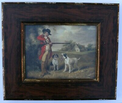 Hunting / Shooting Framed Oleograph W586#E Reproduction Picture , Art .