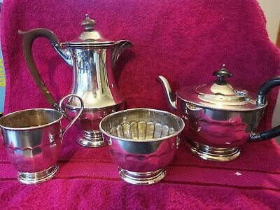 Antique solid silver tea set Teapot coffee pot milk Jug and sugar
