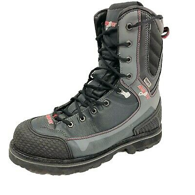 Motorfist Stomper Boot - Size: 10 Black/Gray  Like New! Snowmobile Boots