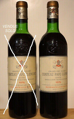 Vin Chateau PAPE CLEMENT 1976 Graves Grand Cru Classé Bordeaux rouge wein wine