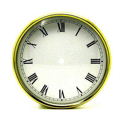 New Brass Clock Bezel With White Dial Pan & Domed Glass Face 91.5mm Clock Making