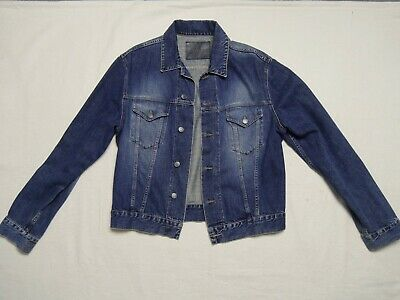 Gucci Pre owned mens web trim blue Denim Jacket PERFECT CONDITION size 52 RARE