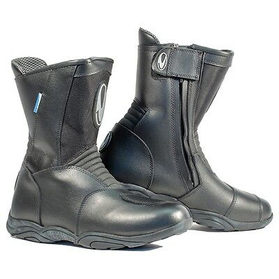 RICHA MONZA Short Style Waterproof Touring Leather Construction Motorcycle Boot