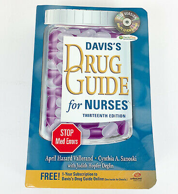 Davis's Drug Guide for Nurses 13th Edition Includes CD-ROM 2013