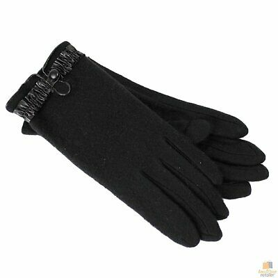 DENTS Ladies Women's Fleece Gloves with Button Blend 76-0021 New