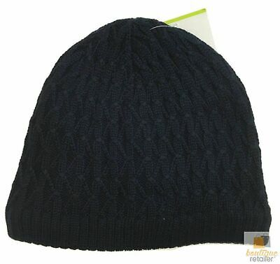Insulated Patterned Beanie Winter Ski Warm Hat Knit Lined Wool Blend New