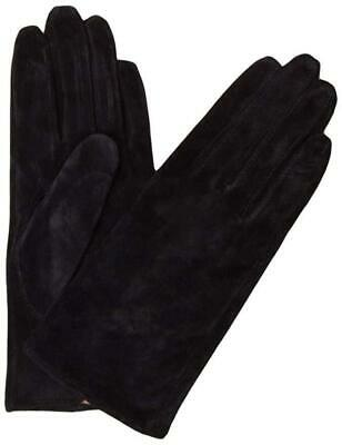 DENTS Ladies Women's Plain Suede Leather Gloves w Acrylic Lining 7-2317 SECONDS