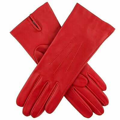 Dents Women's Silk Lined Plain Hairsheep Leather Gloves Warm Winter