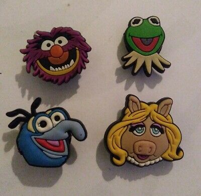 Muppets GONZO ANIMAL KERM MISS PIGGY 4 SHOE CHARM LOT FOR CROCS JIBBITZ BRACELET