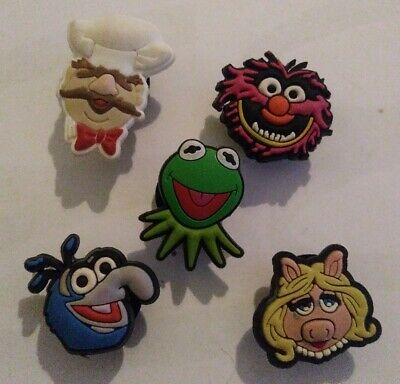 Muppets GONZO ANIMAL KERM MISS PIGGY 5 SHOE CHARM LOT FOR CROCS JIBBITZ BRACELET