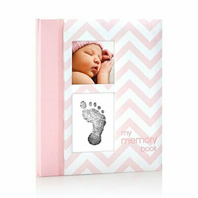 Pearhead First 5 Years Chevron Baby Memory Book with Clean-Touch Safe...