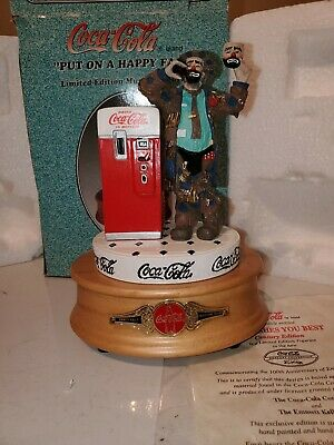 Coca Cola Emmett Kelly Put On A Happy Face Figurine Limited Edition In Box MINT