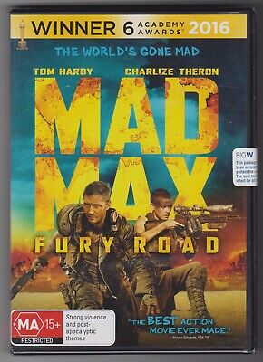 DVD - MAD MAX FURY ROAD - Tom Hardy, Charlize Theron  * New and Sealed *