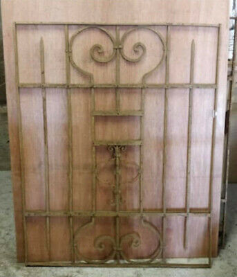 Antique Heavyweight Decorative Wrought Iron Panel (H)