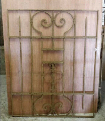 Antique Heavyweight Decorative Wrought Iron Panel (G)