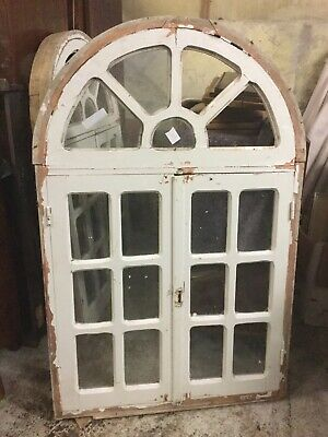 Reclaimed Antique arched window, rare, Architectural Salvage, Garden Folly (B)