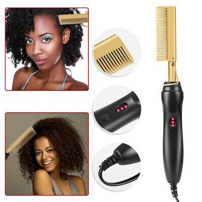 Hair Straightener Flat Irons Straightening Straight Brush Hot Heating Hair Comb