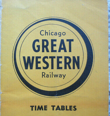 1954 Chicago GREAT WESTERN Railway TIMETABLE No. 153