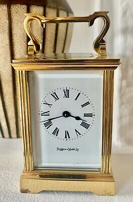 Beautiful Antique MAPPIN & WEBB Brass Carriage Clock In Excellent Condition