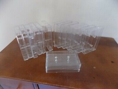 Lot Of 15 Sony Smooth Edge  Clear Plastic Cassette Cases Empty  Fast Shipping