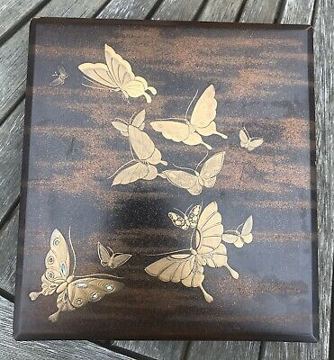 Lovely Quality Large Antique Meiji Period Japanese Lacquered Covered Box