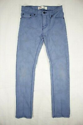 Levi's 510 Skinny Stretch Red Tab Jeans Blue Marble Youth Boy's 14 Reg (27x27)