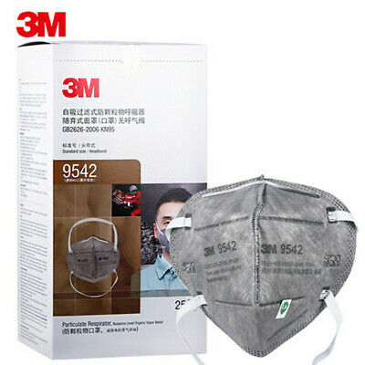 5/25PCS 3M 9542 KN95 Particulate Respirator Disposable Face Mask Mouth cover