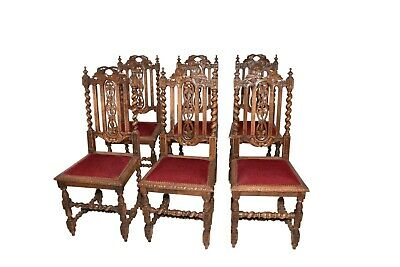 Attractive Set of Six Hunt Dining Chairs, French , 19th Century