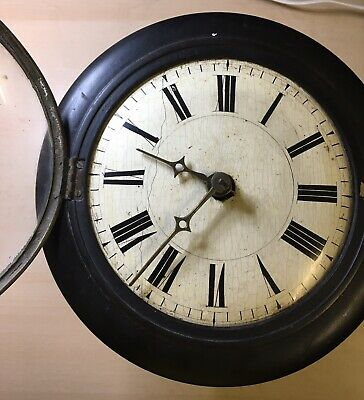 Antique black forest Wall clock With Weight And Pendulum.1840