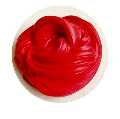 Fluffy Slime Red Floam UK Seller Free activator Glitter Stress Toy Scented