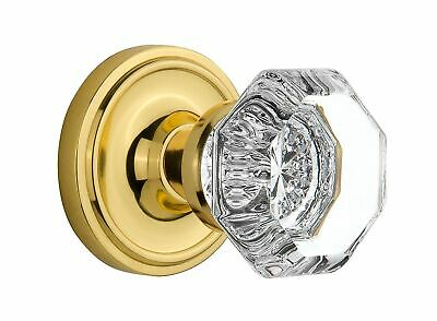 Nostalgic Warehouse Classic Rosette with Waldorf Crystal Door Knob, Mortise -...