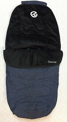 Babystyle Oyster 2 Pushchair Footmuff Cosy Toes - Oxford Blue - VGC