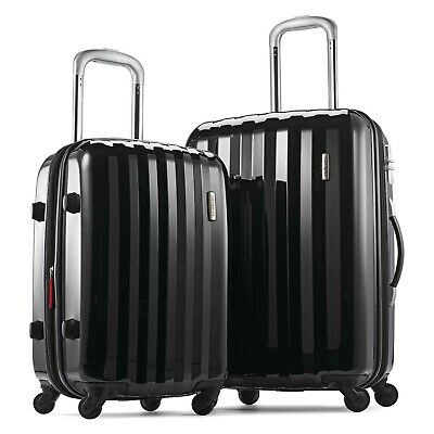 "Samsonite Prism Two-Piece Hardside Spinner Set (20""/24""), Black"
