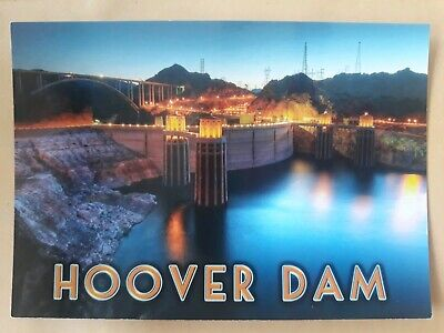 Postcard Hoover Dam Arizona Nevada USA Postcard